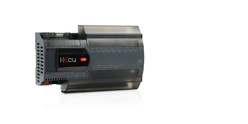 pRack Hecu manages a CAREL power+ inverter to control a variable-speed DC compressor.